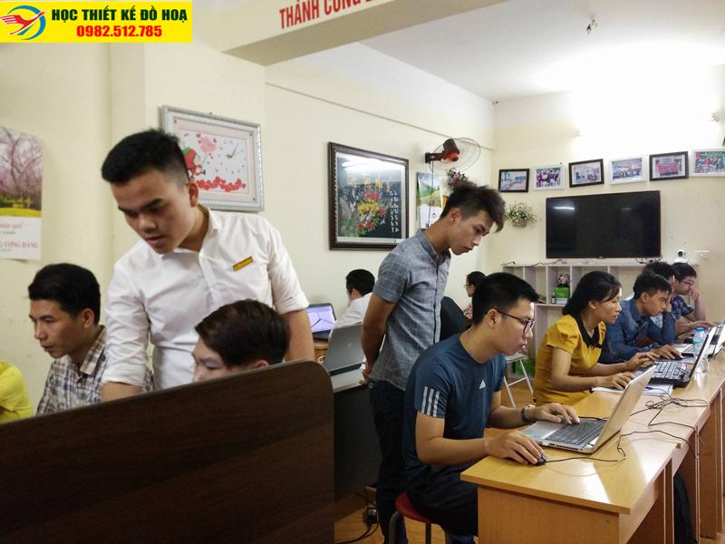 lớp học thiết kế đồ họa tại Phú Đô