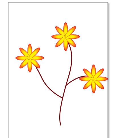 Hình bông hoa được vẽ bằng hiệu ứng blend trong corel draw