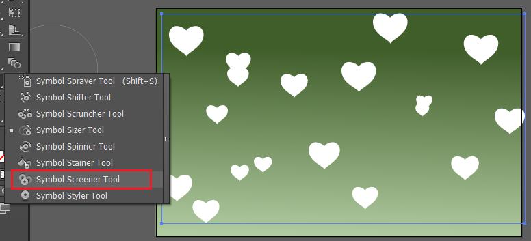 tăng giảm kích thước trái tim với công cụ Symbol Sizer Tool