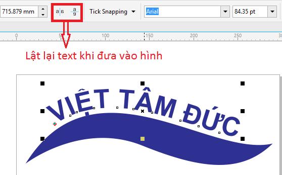 Công cụ lật lại text