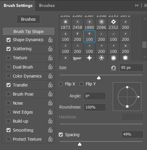 Điều chỉnh màu cho nét brush