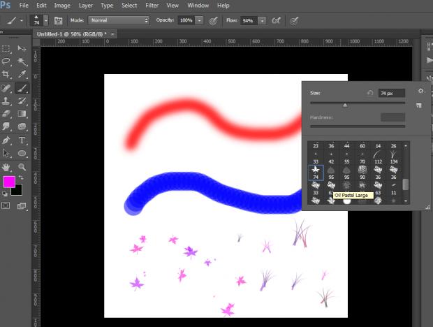 Sử dụng các nét vẽ Brush trong quá trình thiết kế